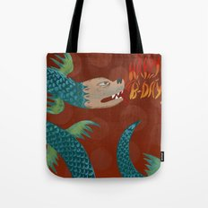 Happy Birthday Dragon Tote Bag
