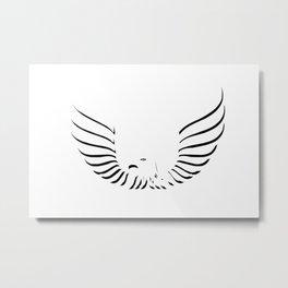Eagle bird logo Metal Print