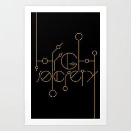 High Society (Black) Art Print