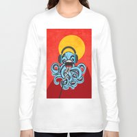 squid Long Sleeve T-shirts featuring Squid by Janice