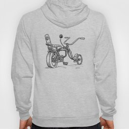 Cartoon Retro Mod 8-Ball Muscle Bike Bicycle Stingray Hoody