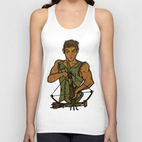 daryl Tank Tops featuring Daryl by Aqua Ink Graphics