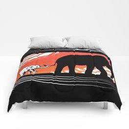 Touch art finger print Elephants Comforters