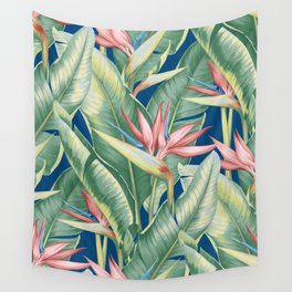Flowers Birds of Paradise Wall Tapestry