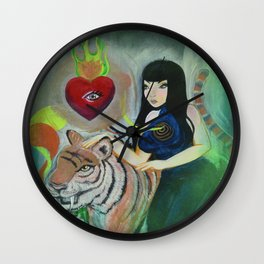 """""""5: Kiss Like Painted Tigers but We Bleed Like No One Does"""" Wall Clock"""
