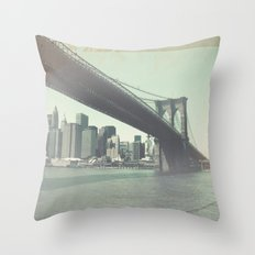 Find Me in New York Throw Pillow