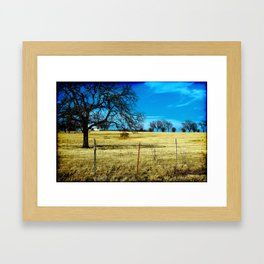 Along The Way In Clyde, Texas Framed Art Print