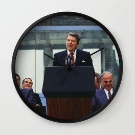Ronald Reagan Berlin Wall Speech Wall Clock