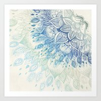 dahlia Art Prints featuring Dahlia by rskinner1122