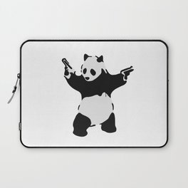 Banksy Pandamonium Armed Panda Artwork, Pandemonium Street Art, Design For Posters, Prints, Tshirts Laptop Sleeve