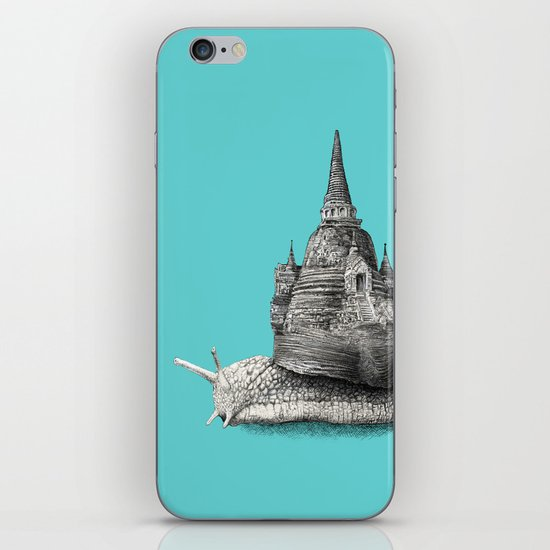 The Snail's Dream (monochrome option) iPhone & iPod Skin