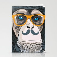 monkey Stationery Cards featuring Monkey! by  Steve Wade (Swade)