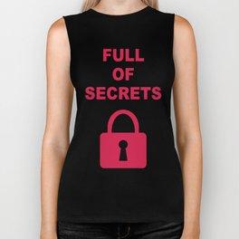 Full of Secrets Lock Biker Tank