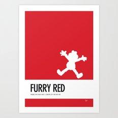 No30 My Minimal Color Code poster Elmo Art Print