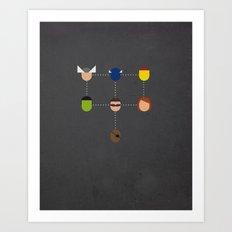 The advengers Capsules Art Print