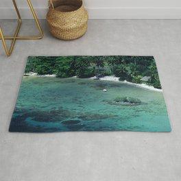 Tahiti White Sand Beach Romantic Getaway Rug