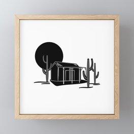 Desert hideout Framed Mini Art Print