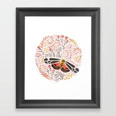 Banded Tiger Moth Framed Art Print
