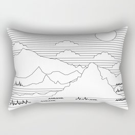 Mountains and Lines Rectangular Pillow