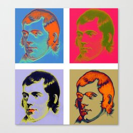 Warhol Burns Canvas Print