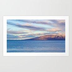 View of Lanai from Maui Art Print