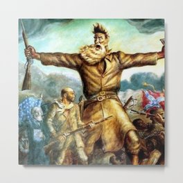 John Brown & Abolition's Destruction of Slavery and the Putrid Confederacy by John Steuart Curry Metal Print