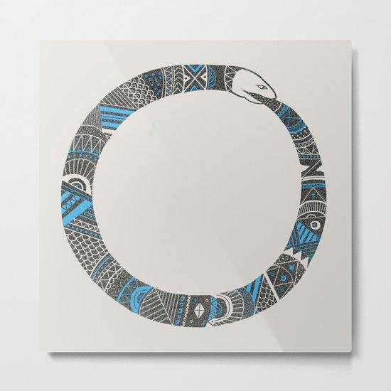 Snake Sleeve No.3 Metal Print