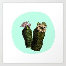 cactus mint Art Print