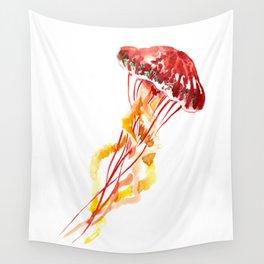 Jellyfish, Red, orange, Yellow design Wall Tapestry