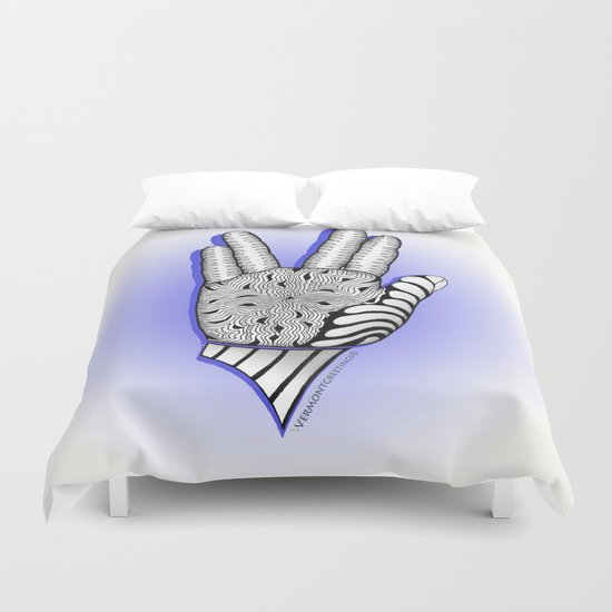 Go Forth and Prosper Zentangle Greeting Duvet Cover