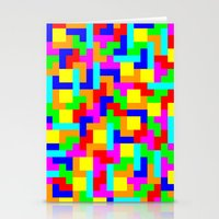 tetris Stationery Cards featuring Tetris by tonilara