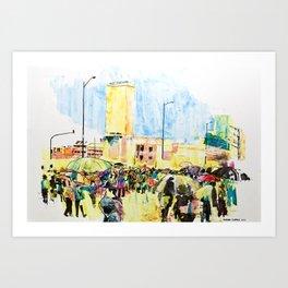 La marcha de Bogotá Art Print
