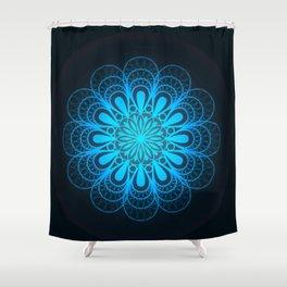 Blue Burst Shower Curtain