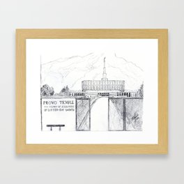 Provo LDS Temple Framed Art Print