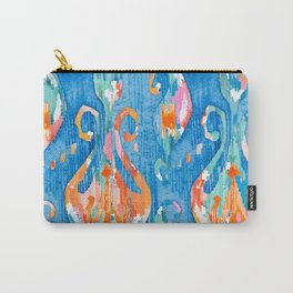 electric blue balinese ikat Carry-All Pouch