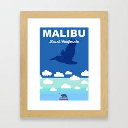 Malibu - California.  Framed Art Print