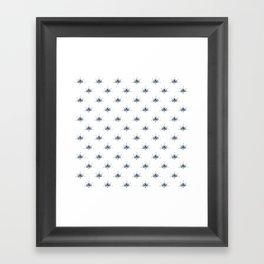 Blå Blomst Framed Art Print