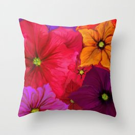 Surfinie and anemones Throw Pillow