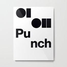 0102 Punch Metal Print
