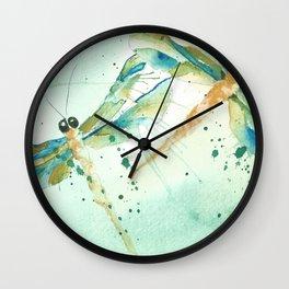 Dragon fly love Wall Clock