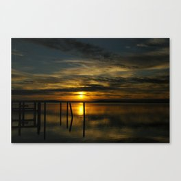 Sunset in Havre de Grace Canvas Print