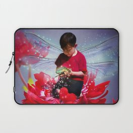 Red Bug Fairy Laptop Sleeve