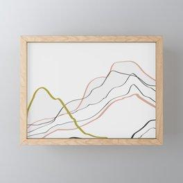 Minimal Line Pattern Framed Mini Art Print