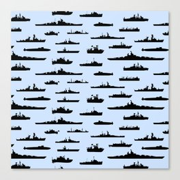 Battleship // Light Blue Canvas Print