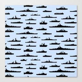 Battleship // Light Blue Canvas Print