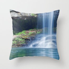 Waterfalls at Fern Pool in Karijini National Park, Western Australia Throw Pillow