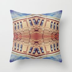 Building Center Throw Pillow