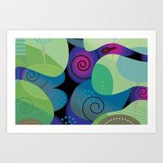 Sea Tropic Effect Art Print