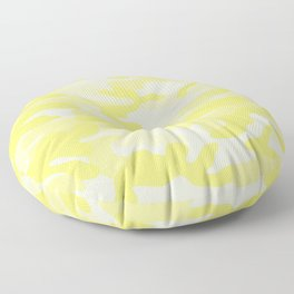 light Yellow Military Camouflage Pattern Floor Pillow