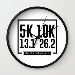 5K 10K 13.1 26.2 Runners Running Marathon Race Wall Clock